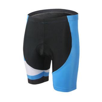 XINTOWN 1508 Men's Cycling Shorts Short Pants Black Stripe (Blue)