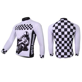 XINTOWN 2061 Men's Cycling Jersey Tops Long Sleeve Light Blue Wind