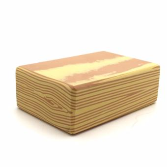 Yoga Brick Foam for Exercise and Health Fitness (WoodenBrown)