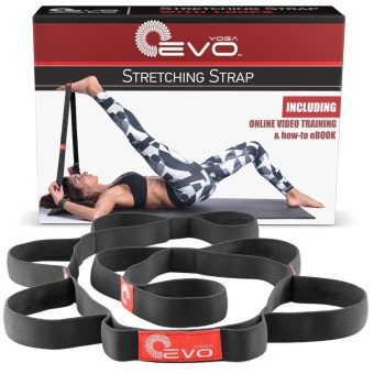 Yoga EVO Stretching Strap Use as Leg Stretcher or as Ballet Band or Pilates - intl