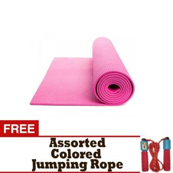 Yoga Mat 3mm (Pink) Thick Free Assorted Colored Jumping Rope Price Philippines
