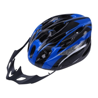 YOSOO 18 Holes Mountain Road Bike Unisex Adjustable Safety Helmet Blue - intl - 3