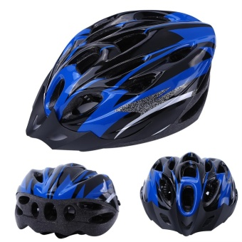 YOSOO 18 Holes Mountain Road Bike Unisex Adjustable Safety Helmet Blue - intl