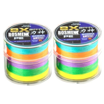 Zukibo 8x Bosment 500 meters 50lbs multicolor made in japan