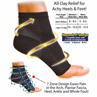 1 pair Foot Angel Anti Fatigue Compression Foot Sleeve Socks - intl
