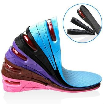 1 Pair Height Increase Insole Women Adjustable Sports Shoes PadCushion Inserts Height Insoles for Men(Black) - intl Price Philippines