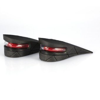 1 Pair Men Women Half Lift Height Increase Insoles 5cm InvisibleShoes Heel Taller Pads - intl Price Philippines