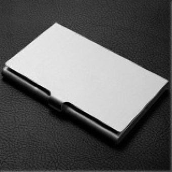 1 PC Rugged Aluminum Business Wallet Credit ID Card Upmarket Metal Case Holder Silver - intl