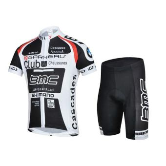 100% Polyester Men Cycling Jersey Short Sleeve Summer Cycling Clothing Breathable&Quick-Dry Cycling Cycle Set - intl