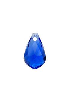 10pcs Fashion DIY Teardrop Faceted Crystal Pendants 12x8mm Blue