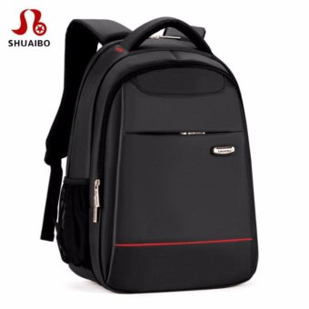 15 Inch Polyester Men's Shoulder Back Pack Men Business Laptop BagCollege Student Camputer Backpack School Bags High Quality FashionLuxury(Black) - intl