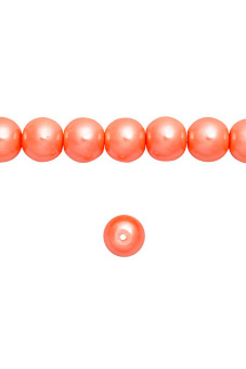 150pcs Round Glass Pearl Spacer Beads 6x6x6mm Coral