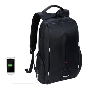 17 inch Waterproof Men Backpack USB Charging College Students Bag Laptop Backpack For 13.3 to 17.3 inch school bag - intl
