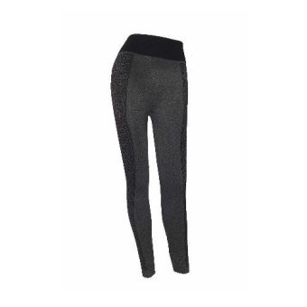 19895 Ladies legging jegging pants (black/grey)