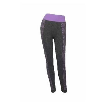 19895 Ladies leggings jegging pants (purple/grey)(Int: Onesize)(OVERSEAS)