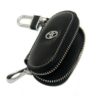 1pc Leather Key Wallet Car Key Case For TOYOTA (BLACK) - intl - 2