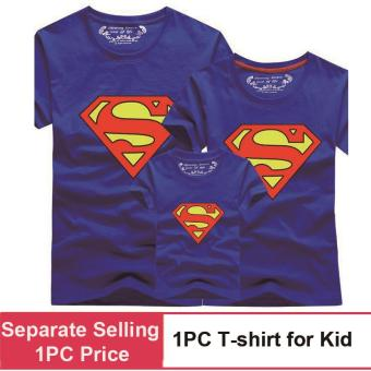 (1PC Price Kids)Superman Family Matching Outfits Mother Daughter Men Women Girls Boys T-Shirt Top Tee Clothes Clothing - intl