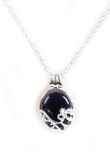 1Pc Vampire Diaries Katherine Natural Opal Blue Stone Pendant Necklace Deep Blue