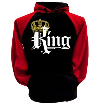 1Pcs Men King Hoodie Hip-hop King And Queen Long Sleeve Couple Hoodie Coat Men Jackets :Hoodie(For men)   - intl Price Philippines