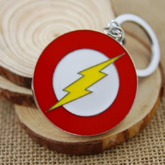 1pcs Movie Key Chain The Flash Logo Keychain Men Gift Key Chain KeyHolder - intl