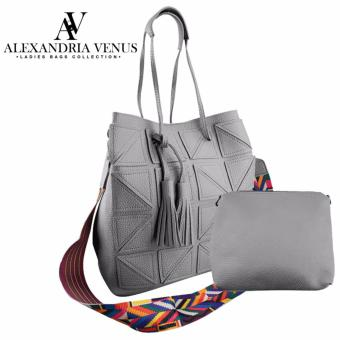 2 in 1 Korean Leather Tote Bag Fashion Bag Shoulder Bag Sling Bag Aztec Strap Bag with Tassel Casual Bag Set Alexandria