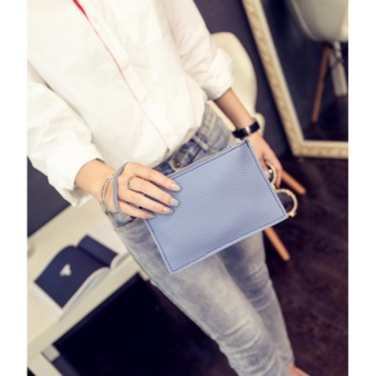 2 in 1 Korean Style Pastel Color Bucket Bag Tassel with Pouch Shoulder Bag Body Bag Casual Bag Blue - 3