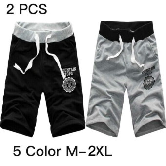 2 PCS Men Casual Workout Running Sport Jogging Short Pants - intl