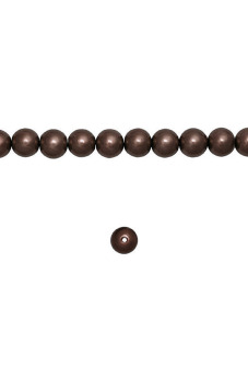 200pcs Round Glass Pearl Spacer Beads 4x4x4mm Maroon