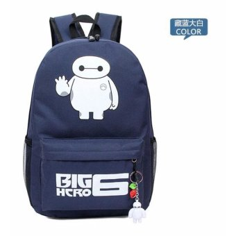 2015 Latest Canvas Backpack Fashion Baymax Women/Men Backpacks Big Hero 6 School Bag Unisex Leisure Backpack Mochila Rucksack 41 Price Philippines