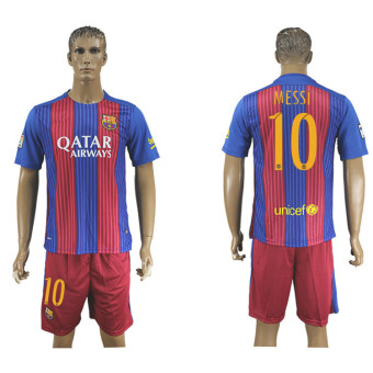 2016--2017 Barcelona Football team home NO.10 Soccer Jersey suits -intl