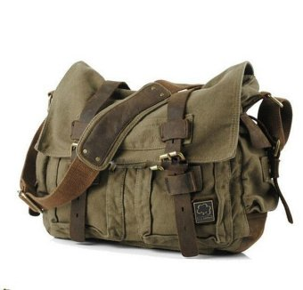 2016 Men bag Canvas and Leather Crossbody Bag Men Military ArmyVintage Messenger Bags Sports Shoulder Bag Casual Travel Bags I AMLEGEND - Intl