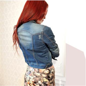 2016 New Arrived Fashion Women Casual Long-sleeved Denim JacketClothing Blue - Intl - 3