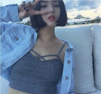2016 New Sexy Women Cut Out White Bra Bustier Crop Top Bralette Strappy Crochet Cropped Blusas Bandage Halter Tank Tops Camisole WHITE - intl - 3