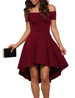 2016 summer dresses strapless princess dress mini party dress (Wine red color wine red) (Wine red color wine red)