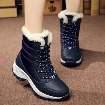 2016 Women Snow Boots Winter Warm Boots Thick Bottom Platform Waterproof Ankle Boots For Women Thick Fur Cotton Shoes Size 35-41 - intl - 5