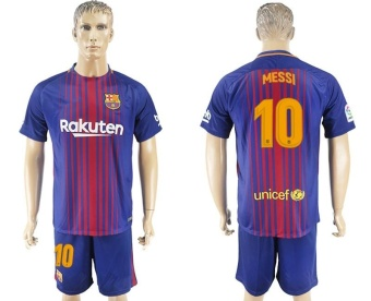 2017--2018 Barcelona Football team away NO.10 MESSI Soccer Jerseysuits - intl Price Philippines