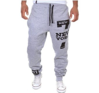 2017 Mens Pants Casual Pants Sweatpants Jogger Grey - intl