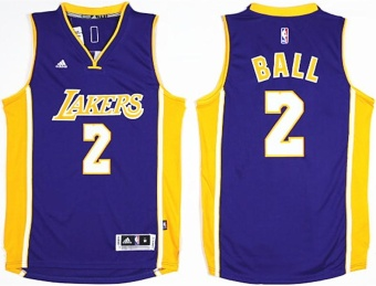 2017 NBA Draft #1 NO.2 Basketball Jersey Lonzo Ball Men's LosAngeles Lakers Breathable High Quality team color Adult AlternateChase Fashion Purple size S - intl Price Philippines