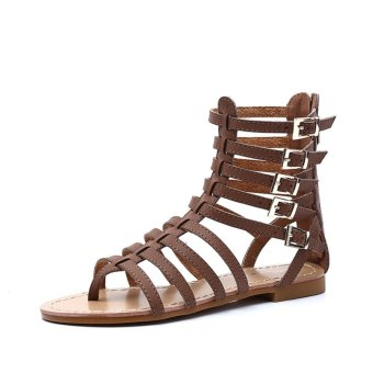 2017 New Cool Brand Gladiator Flat Sandals Women Summer Shoes GirlsBig Size Sandals Boots Shoes Woman Romantic Fashion - intl