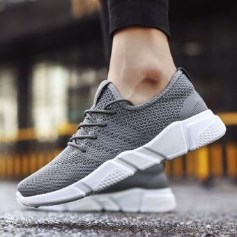 2017 New Fashion Outdoor Sport Shoes for Man Lower Cut Fly Weave Breathable Leisure Shoes (grey) - intl - 3