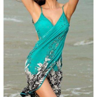 2017 New Hot Women Beach Dress Sexy Sling Beach Wear Dress SarongBikini Cover-ups Wrap Pareo Skirts Towel Open-Back Swimwear AS001 -intl - 2