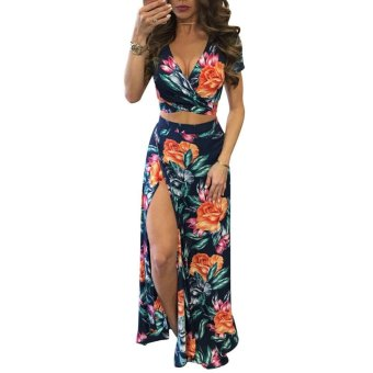 2017 New Women Summer Boho Long Maxi Evening Party Dress BeachDresses Sundress - intl