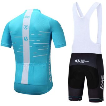 2017 Sky Team 100% Polyester Breathable Cycling Jersey Summer MtbBicycle Clothing Ropa Maillot Ciclismo Mountain Bike Clothes - intl - 2
