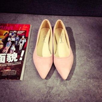 2017 Spring Summer Women Flats Casual Pointed Toe Shoes Pink - intl