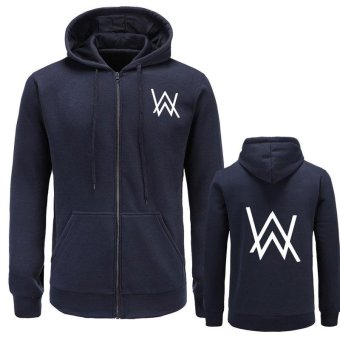 2017Mens Hoodies Sweatshirts Music DJ Comedy Alan Walker Hip Hop Hoodie Black Jacket Men Clothes Fashion Hooded Hombre(dark blue) - intl