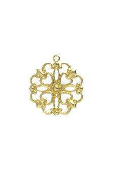 20pcs Raw Brass Flower Charms Jewelry Findings 18x16x1mm