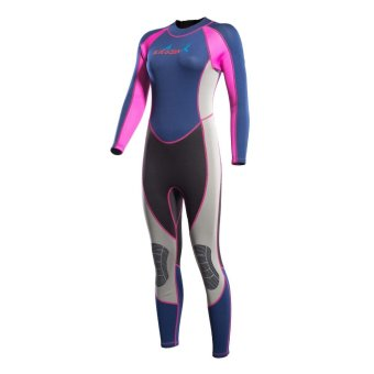 2mm Neoprene Women Wetsuits Full Body Swimsuit Swimwear FullsuitJellyfish Snorkeling Diving Wet Suits Back Zipper - rose - intl