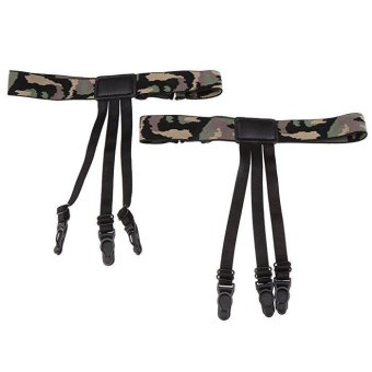 2pcs Mens Non Slip Punk Shirt Stay Holders Elastic Garter BeltLocking Clamps Camouflage #2 - intl Price Philippines