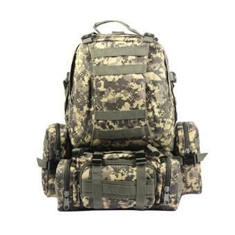 360WISH Detachable Outdoor 60L Multifunction Military Rucksacks Tactical Backpack Molle Assault Pack Trekking Bag - ACU - intl - 2
