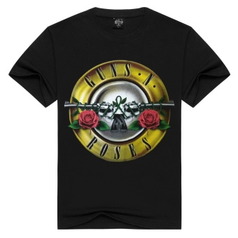 3D Men's Pure Cotton T-Shirt (Rose and Guns Band) Price Philippines